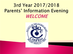 Information from 3rd Year Parents Evening