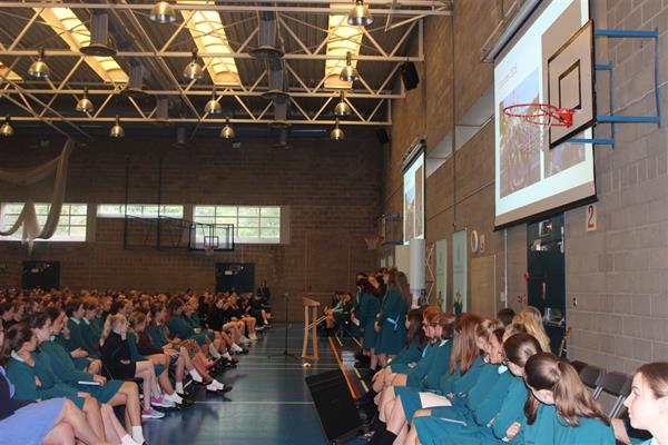 Pictures from Student Lead Whole School Assembly Friday 14th September 2018