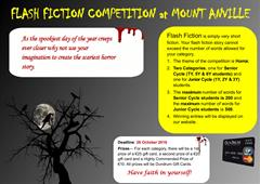 Autumn Writing Competition Deadline: 09/11/18
