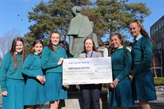 TY Dinner Cheque presented to the Irish Cancer Society
