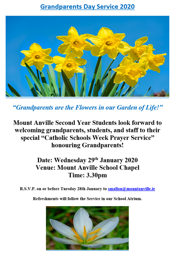 Invitation to Grandparents Service
