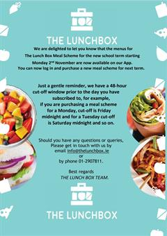 The New Lunch Box Meal Scheme